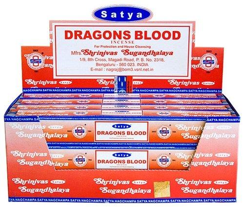 Satya Dragon's Blood - 15 Gram Box - Satya Sai Baba Incense - incensecentral.us