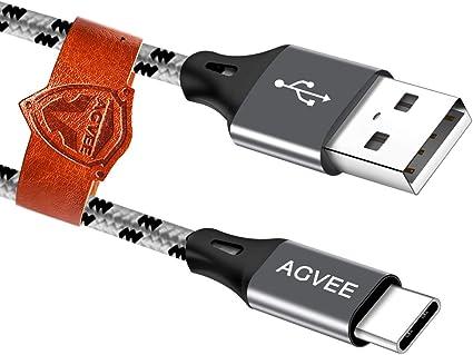 Amazon.com: Cable USB C, tipo C, cable cargador para Samsung ...