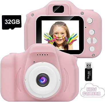 Rosa GlobalCrown Fotocamera Bambini,Mini Ricaricabile Fotocamera Digitale per