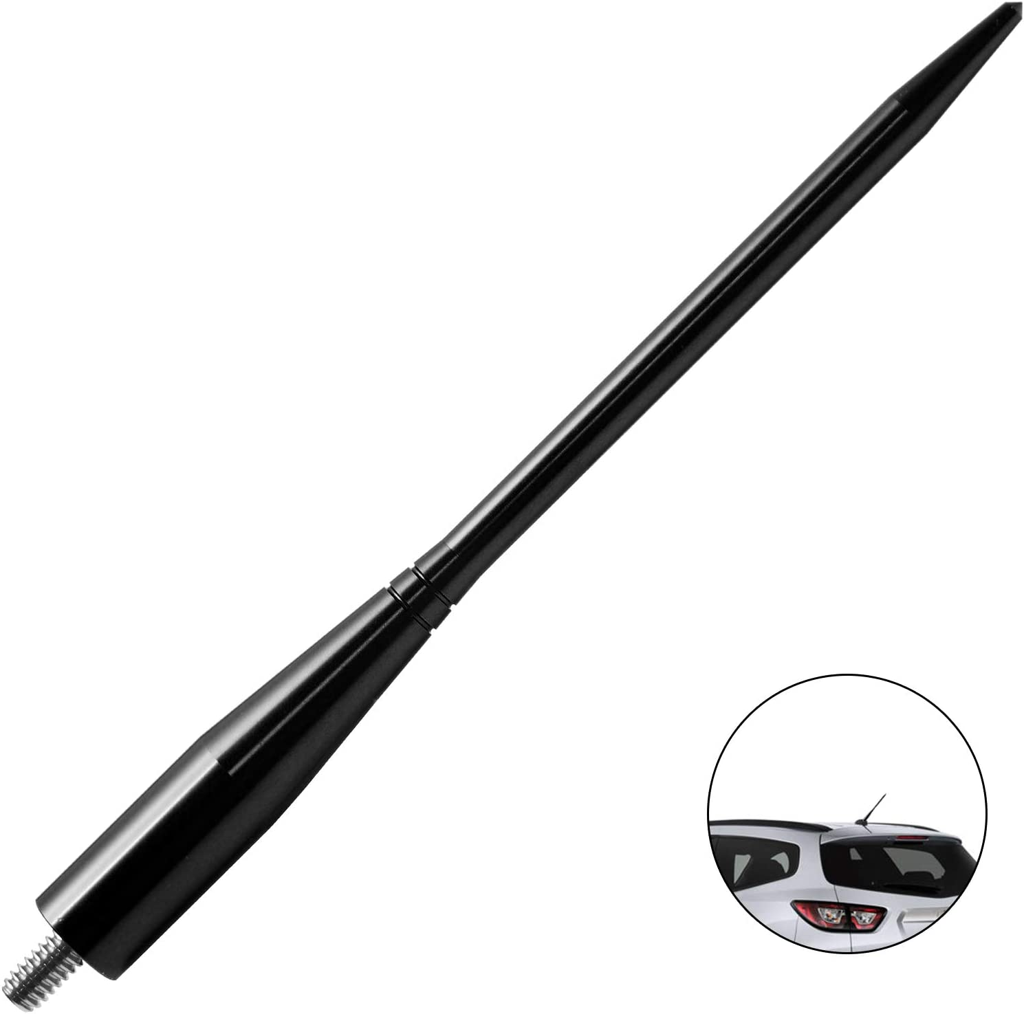 6.75 inches-Black JAPower Replacement Antenna Compatible with Toyota Sienna 2003-2014