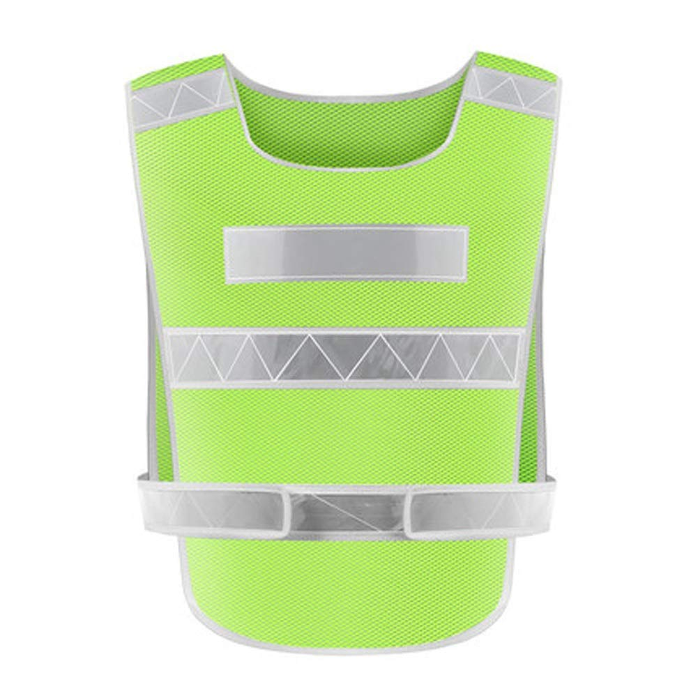 RYYAIYL High Visibility Safety Vest with Silver Stripe,Safety Reflective Running Gear for Men and Women for Night Running (Color : Green)