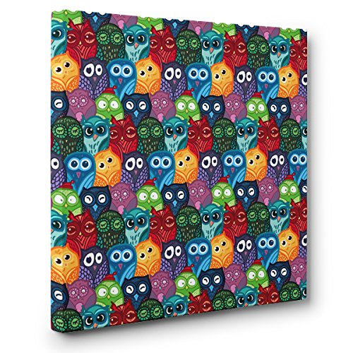 Owl Pattern CANVAS Wall Art Home Décor by Paper Blast