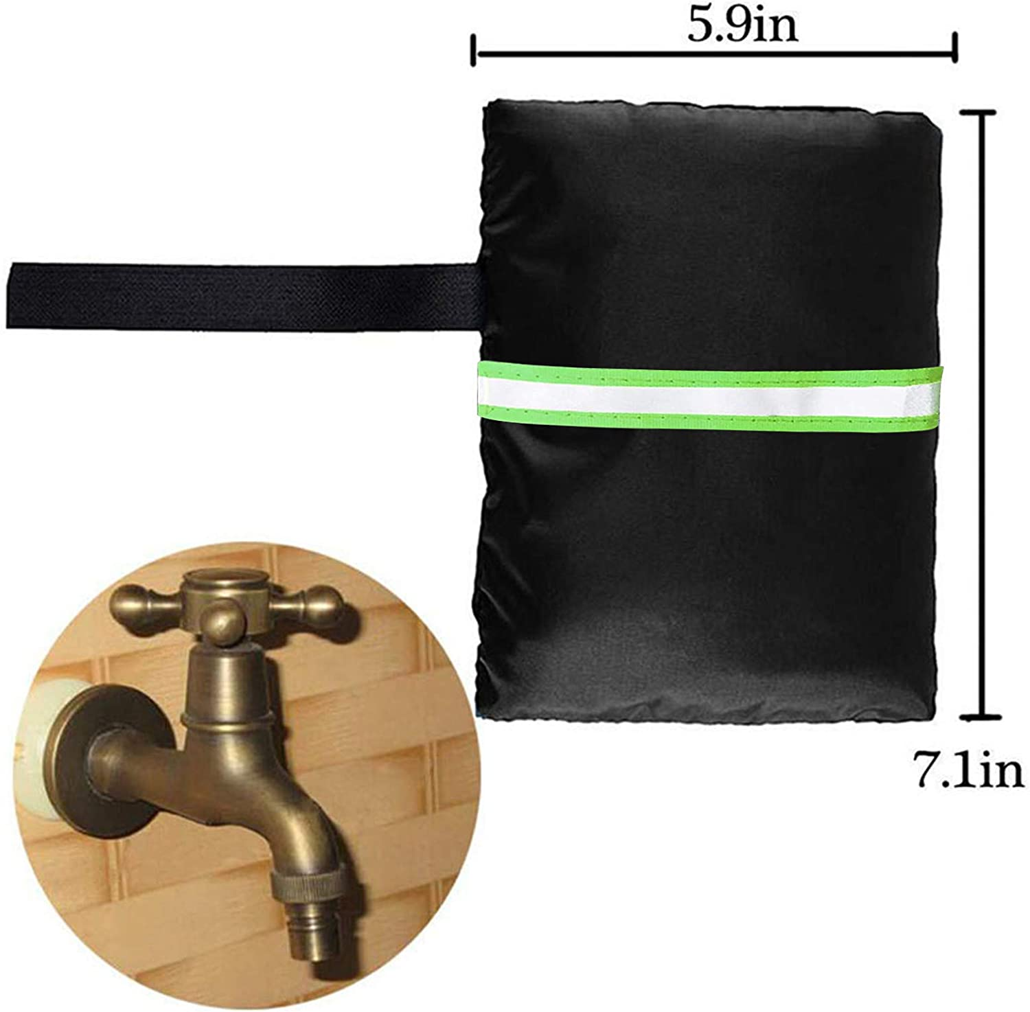 Black Kybers/_Supplies of Home Outdoor Faucet Cover Socks Reusable Anti-Freeze Hose Bib for Winter Freeze Protection
