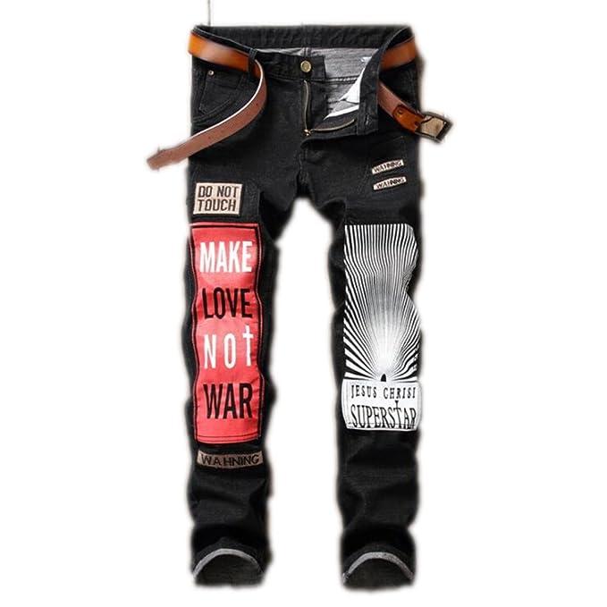 Gli uomini Skinny Jeans marche di abbigliamento moda Denim Mens Hip Hop  Jeans Casual uomini Harem pantaloni Designer Hip Hop di grandi dimensioni  nero 29-38 ... 5e0556149503