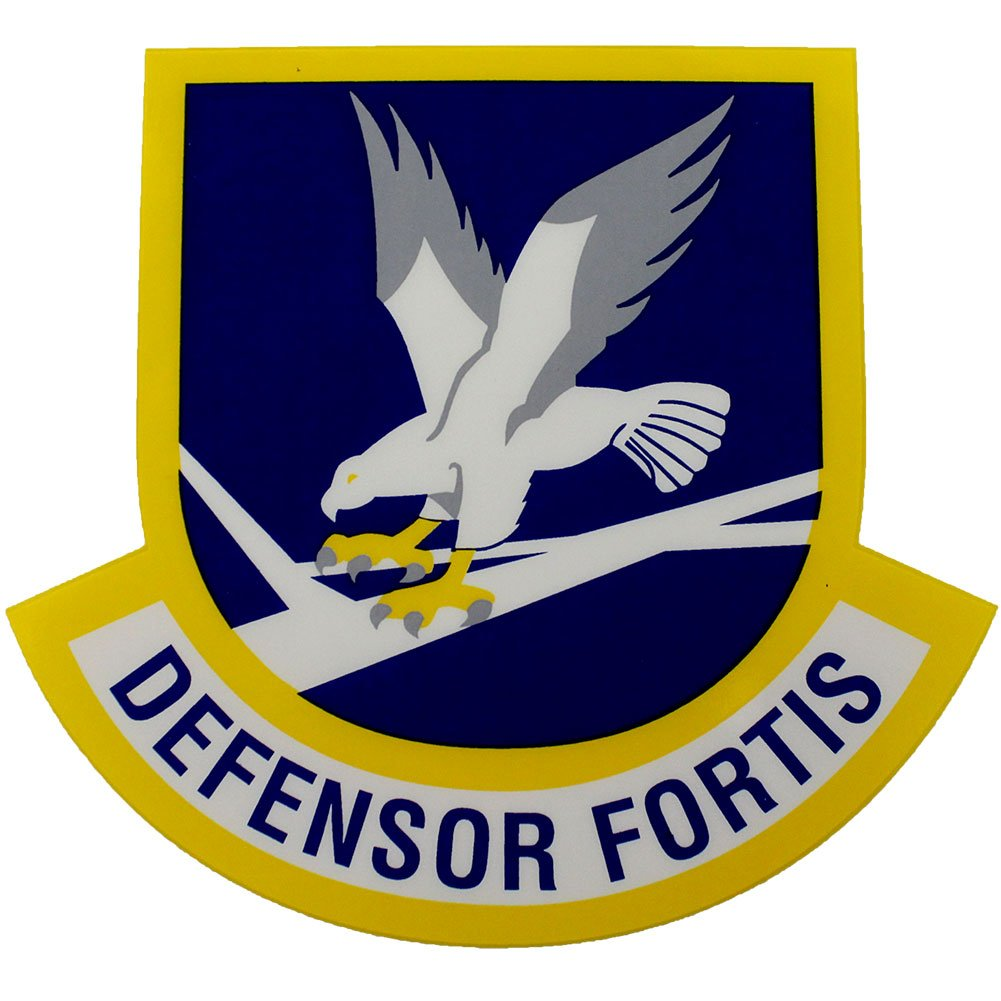 Defensor Fortis Air Force Security Force Clear Decal Mitchell Proffitt D91-AF