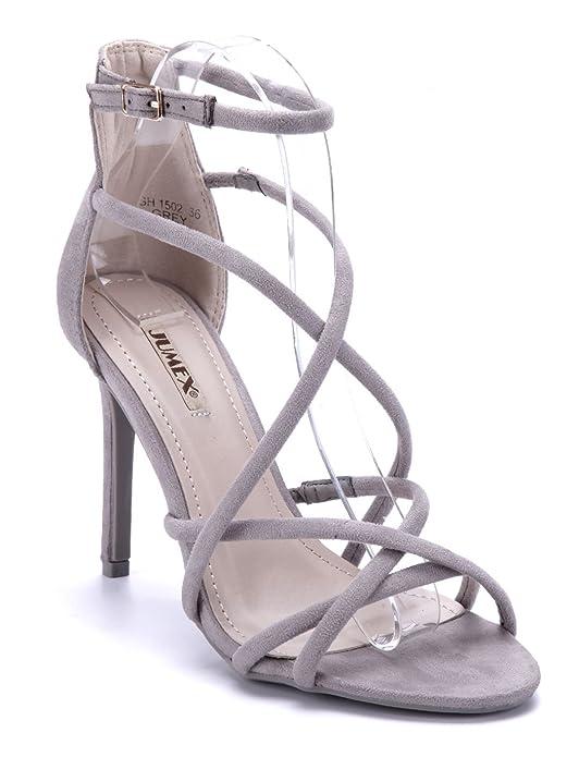 469272861f3427 Schuhtempel24 Damen Schuhe Sandaletten Sandalen Stiletto 10 cm High Heels:  Amazon.de: Schuhe & Handtaschen