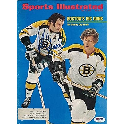 734e2f6254f Phil Esposito Signed Sports Illustrated Magazine Autograph - PSA DNA  Certified - Signed NHL Memorabilia