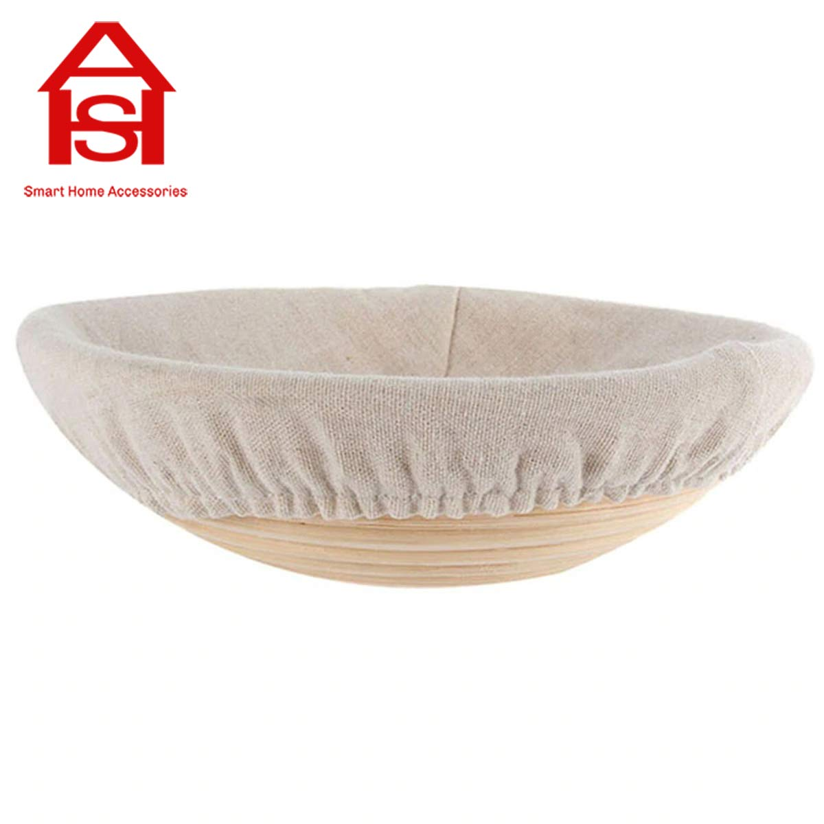 Banneton Proofing Basket - Rattan Basket Bread Banneton Brotform Dough Proofing Proving Rattan Multi-Sizes For Rising Dough Or Decoration Home Basket - by SHA - 1 PCs by SHA (Image #1)