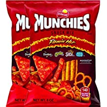 NEW Munchies Flaming' Hot Snack Mix Doritos, Cheetos, Sun Chips, Rold Gold Net Wt 8 Oz. (2)
