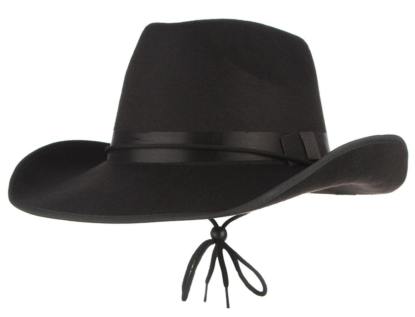 La Vogue-Retro Cappello da Cowboy Uomo Berretto Texano Uomoni Camperos  Accesori per Travestimento 673ee7227259