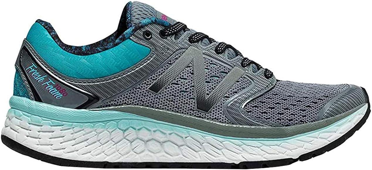 New Balance W1080V7 SS17 - Zapatillas de running para mujer, color Plateado, talla 43 EU: Amazon.es: Zapatos y complementos