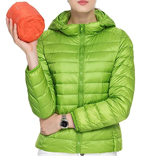Laixing Buena Calidad Women's Winter Fashion Casual Slim Down Ultra Light Coat With Hood Jacket