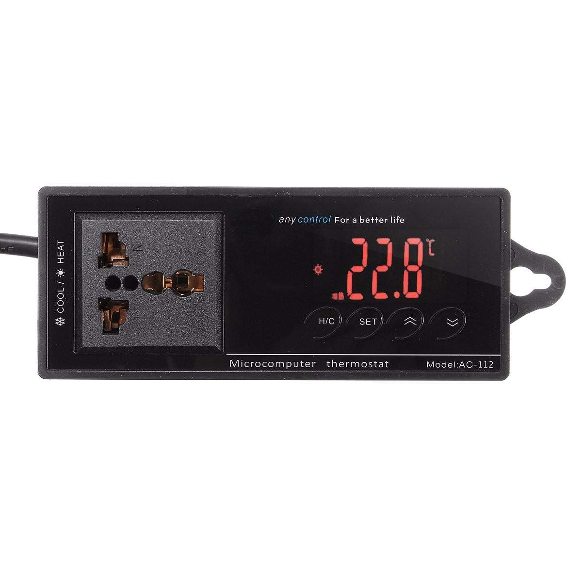220V Digital Thermostat Temperature Controller Socket for Reptile Aquarium Tank by Unknown (Image #4)