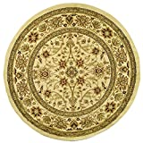 "Safavieh Lyndhurst Collection LNH212L Traditional Oriental Ivory Round Area Rug (5'3"" Diameter)"