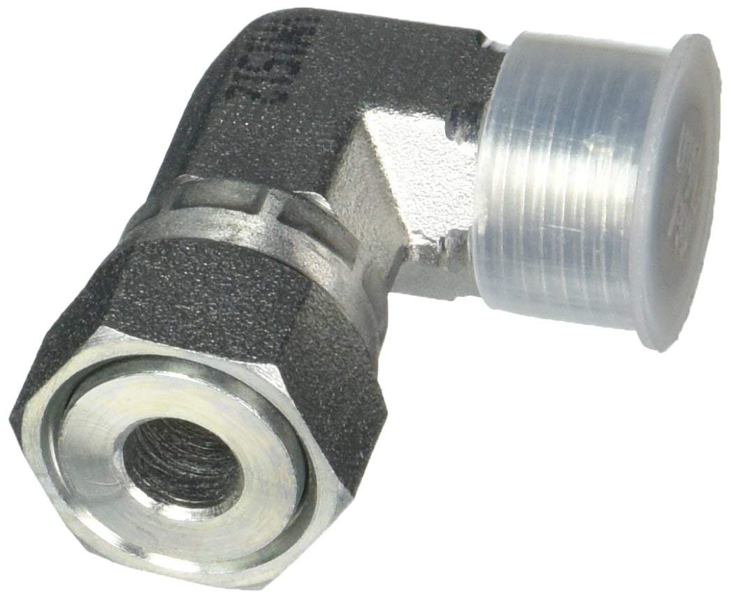 FS6500-08-08 Hydraulic Adapter 08 Male FACE Seal X 08 Female FACE Seal 90 Degree Flat FACE