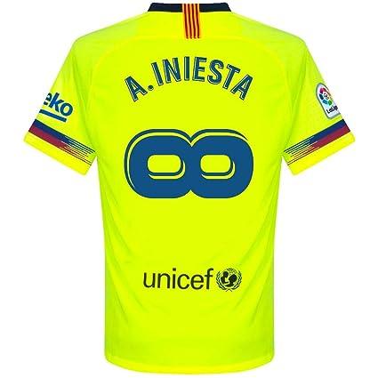 e748201c8703e Nike Barcelona Away A. Iniesta Infinity Jersey 2018/2019 (Fan Style  Printing)