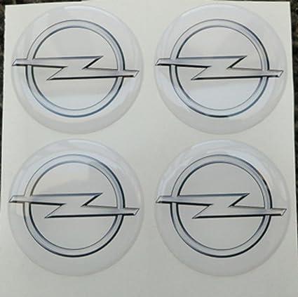 50 mm blanco Tuning Efecto 3d 3 m resinato coprimozzi Tachuelas Caps pegatinas stickers para círculos de aleación x 4 unidades): Amazon.es: Coche y moto