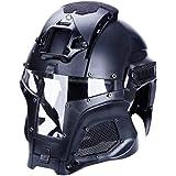 Catsobat 本格的装備 グラディエーター ヘルメット サバゲー SWATコスプレ 仮装 (ブラック)