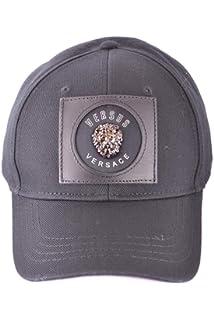 8b76b134a7d Amazon.com  Versace Mens Hat Cap BUC0040 BT10524 Size ONE Size Black ...
