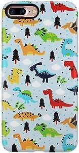 GOLINK Case for iPhone 7 Plus Case/iPhone 8 Plus, Matte Cute Series Slim-Fit Anti-Scratch Shock Proof Anti-Finger Print Flexible TPU Gel Case for iPhone 7/8 Plus - Dinosaurs