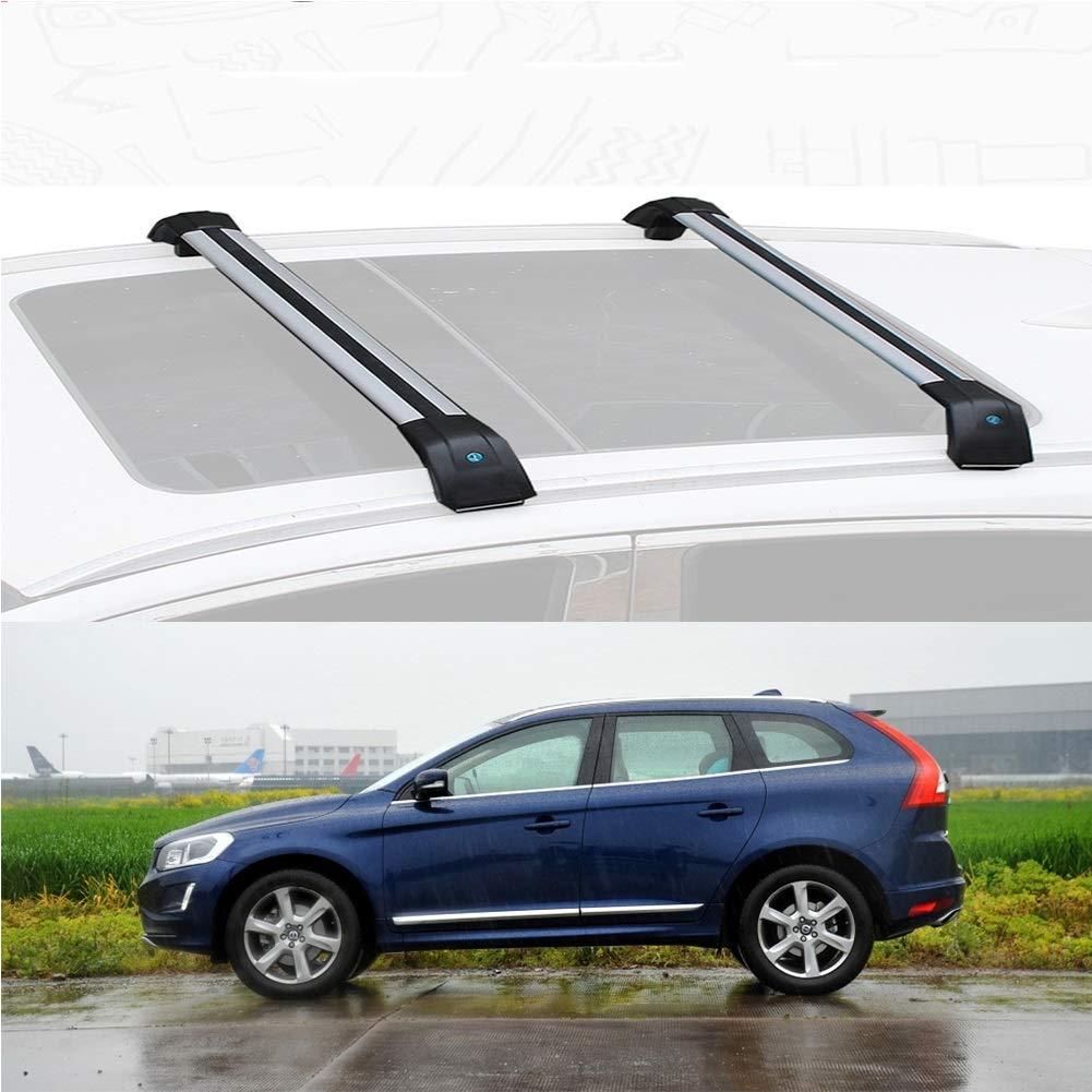 Size : for Volvo Xc60 2015 LLDS Custom Fit for XC60 in Lega di Alluminio Tetto Rack Barre trasversali sul Tetto Cargo Bar for XC60