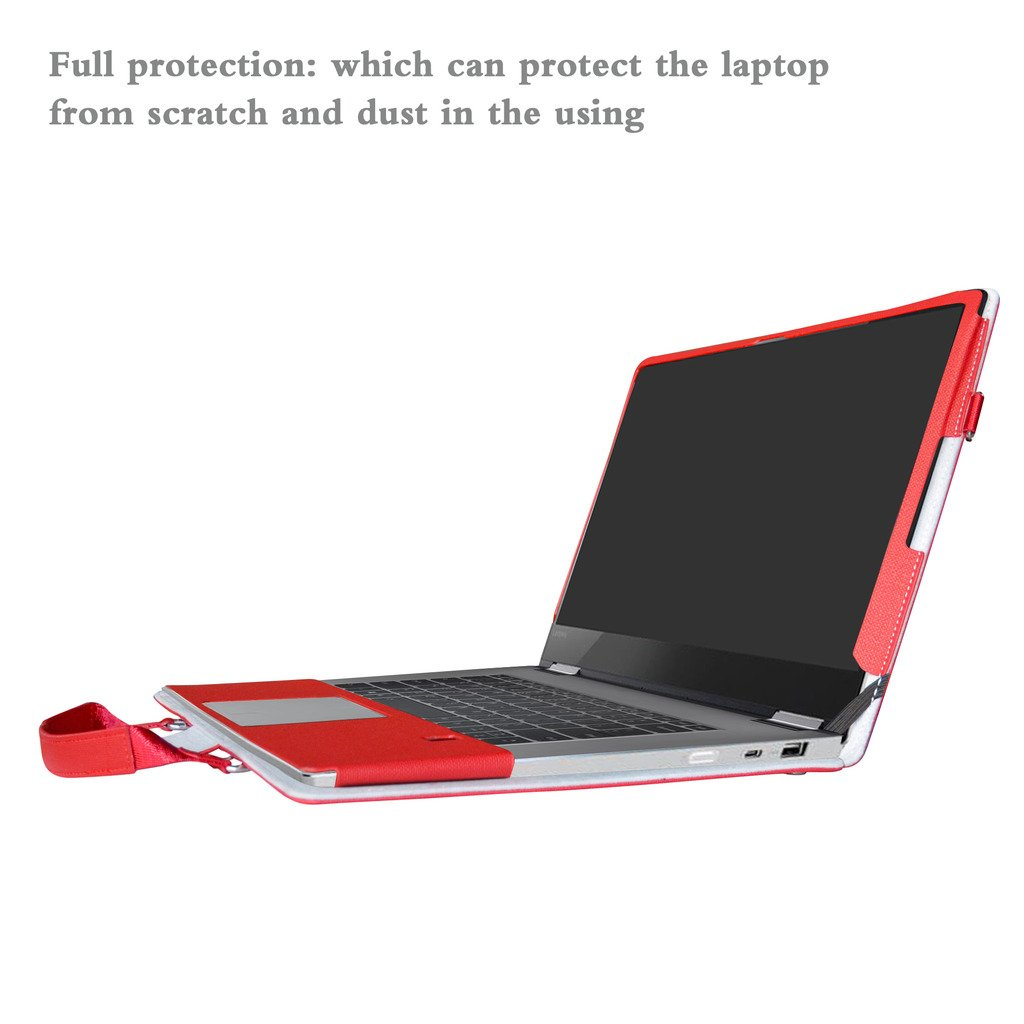 Yoga 720 15 Funda,2 in 1 Diseñado Especialmente La Funda Protectora de Cuero de PU + la Bolsa portátil para 15.6
