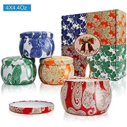 Y YUEGANG Scented Candles Gift Sets, Natural Soy W