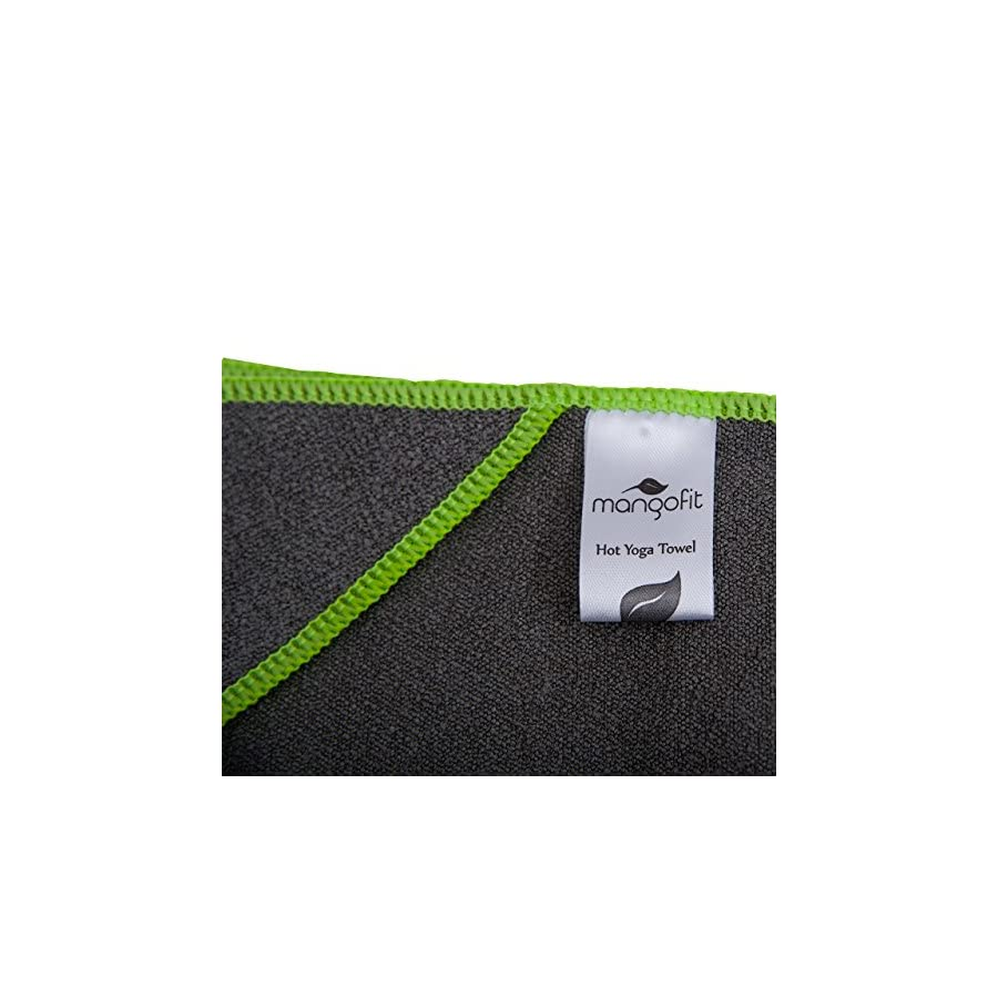 MangoFit Best Hot Yoga Towel With Anchor Fit Corners for your Mat 72 x 24 100% Hygienic New Microfiber Fast Absorbent Skidless, Non Slip, Yoga Towel With Pockets Great for Pilates, Gym, and Beach!