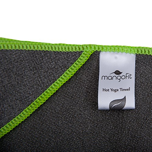 #1 Best Hot Yoga Towel With Anchor Fit Corners for your Mat by MangoFit 100% Hygienic NEW Microfiber Fast Absorbent Skidless, Non Slip, Yoga Towel With Pockets Great for Pilates, Gym, and Beach!