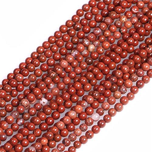 (JOE FOREMAN 2mm Red Jasper Semi Precious Gemstone Round Loose Beads for Jewelry Making DIY Handmade Craft Supplies 15