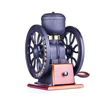 PLYY Mano-moliendo la máquina de café del arrabio, Amoladora Medicinal de la Haba del Negocio de la Rueda Doble, Amoladora Retro, decoración casera: ...