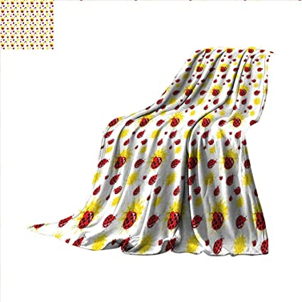 Fabulous Amazon Com Smallbeefly Ladybugs Throw Blanket Summer Season Caraccident5 Cool Chair Designs And Ideas Caraccident5Info