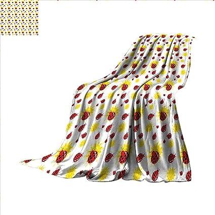 Super Amazon Com Smallbeefly Ladybugs Throw Blanket Summer Season Onthecornerstone Fun Painted Chair Ideas Images Onthecornerstoneorg