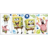Amazoncom RoomMates RMKGM SpongeBob Squarepants Peel Stick - Spongebob wall decals