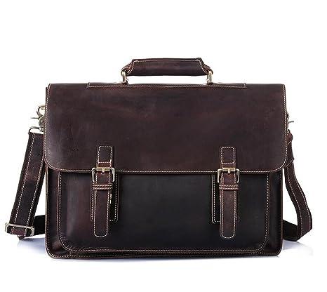 SHOUTIBAO Borsette da uomo valigetta in pelle retro personalizzata borsa  computer 1c49c019f8e