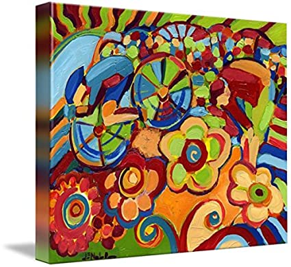 ABSTRACT ART PRINT Within by Jennifer Lommers Floral Flower Poster 26x14