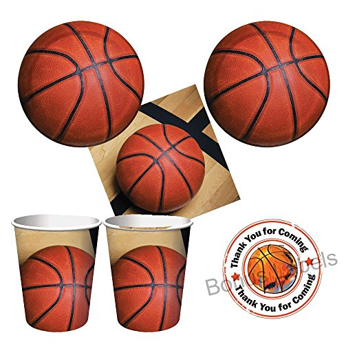 Basketball Sports Fanatic Party supplies - tableware for