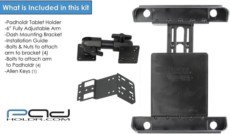 Padholdr Ram Lock Series Locking Tablet Dash Kit for 2003-2010 Land Rover Range Rover