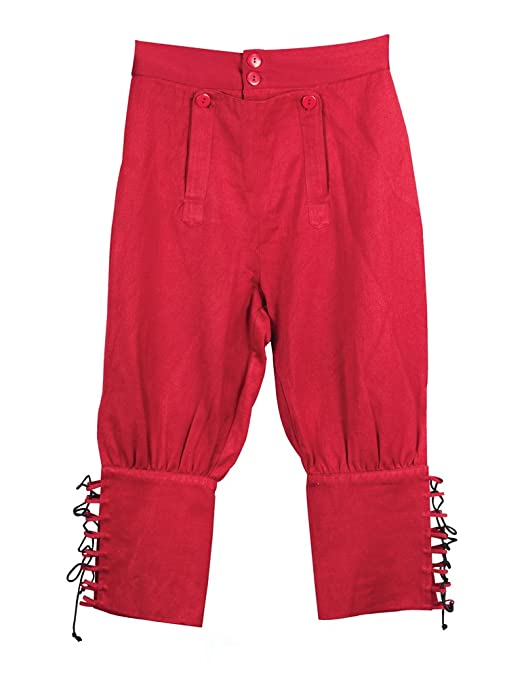 Deluxe Adult Costumes - Museum Replicas men's red Tortuga pirate pants