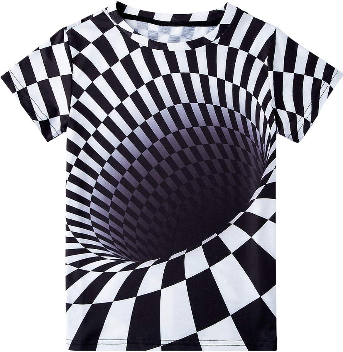 Belovecol Jungen M/ädchen 3D T-Shirt Cool Kurzarm T Shirt Sommer Tshirt for Kinder Jugend Teens 6-16 Jahre