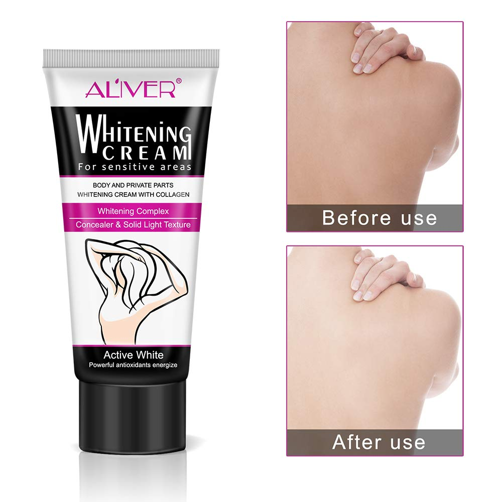 Scrubs & Bodys Treatments 2019 New Style 50ml Armpit Whitening Cream Between Legs Knees Private Parts Underarm Whitening Formula Armpit Whitener Beauty Body Cream Beauty & Health