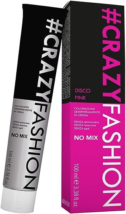 Crazy Fashion - Crema Colorante Semipermanente para el Cabello - Sin Amoníaco, Resorcinol ni PPD - Tintes Temporales para el Cabello - Colorante Disco ...