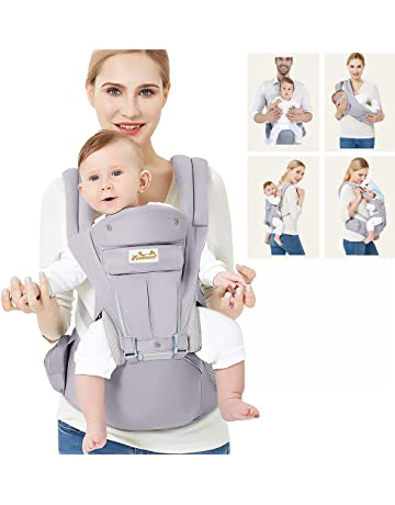 0c0961556b1 Viedouce Baby Carrier Ergonomic with Hip Seat  Pure Cotton Lightweight and  Breathable  Multiposition