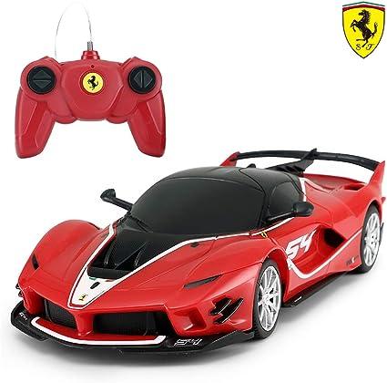 Amazon Com Ferrari Toy Car Rastar 1 24 Ferrari Fxx K Evo Remote Control Car For Kid Boys Adults Red Toys Games