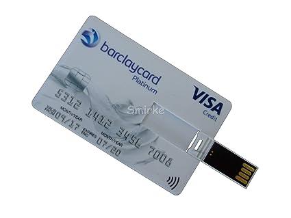 Smirke Barclaycard - Memoria USB con Tarjeta de crédito 16 ...