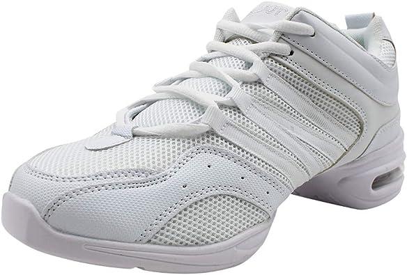 Yudesun Zapatos Aire Libre Deportes Danza Mujer - Mujeres Lona Cordones Suela de Goma Zapatillas Moda Practicidad Running Sneaker Jazz Contemporáneo Baile Informal (Los Zapatos Son más pequeños): Amazon.es: Zapatos y complementos