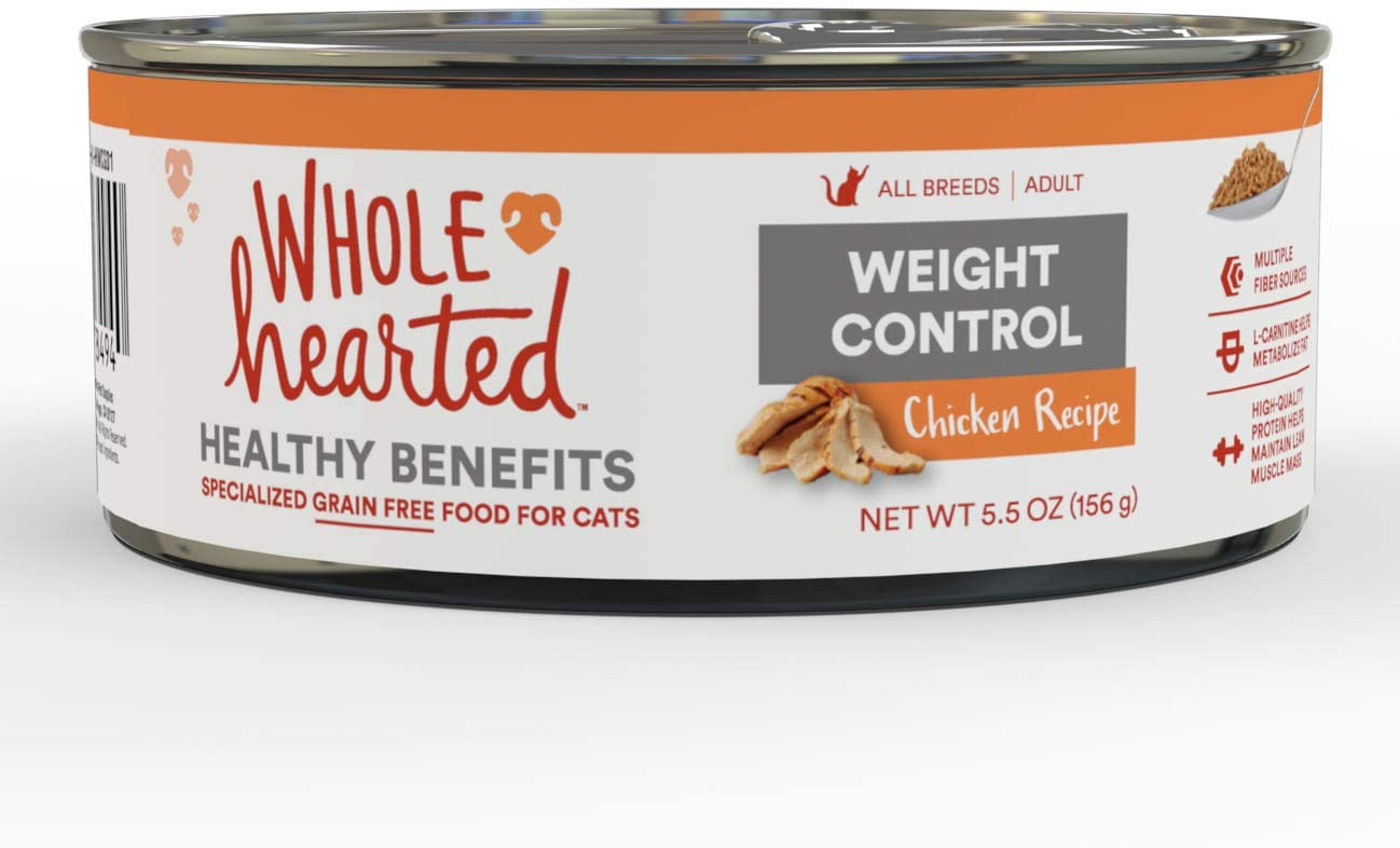 WholeHearted Weight Control Chicken Recipe Adult Wet Cat, 5.5 oz., Case of 24, 24 X 5.5 OZ