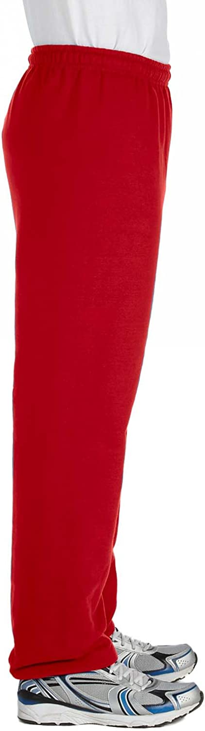 L G182 Pack of 12 Heavy Blend 8 oz 50//50 Sweatpants Red