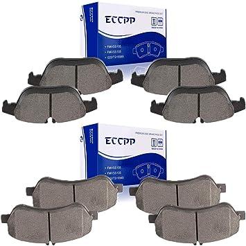 For Mercedes W204 GLK350 GLK250 Front Brake Pad Set w// Sensor Premium Ceramic