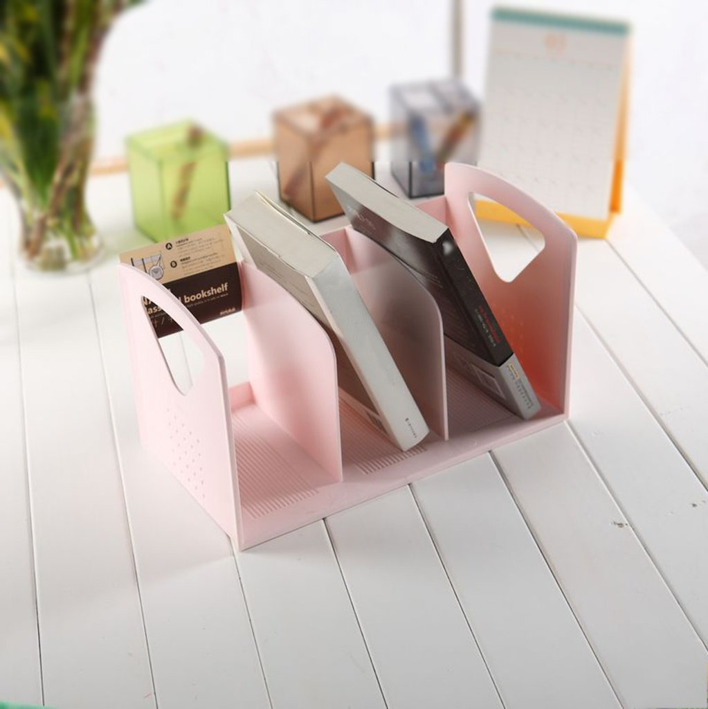 LYXPUZI Soporte de Archivo de plástico Creativo Creativo plástico - Estante para Libros Estante para Libros Estante para Libros Estante para Almacenamiento (Color : Rosa) 2cd40a